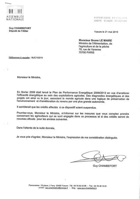 Exemple De Lettre à Un Ministre modele de lettre adressee a un maire contrat de travail 2018
