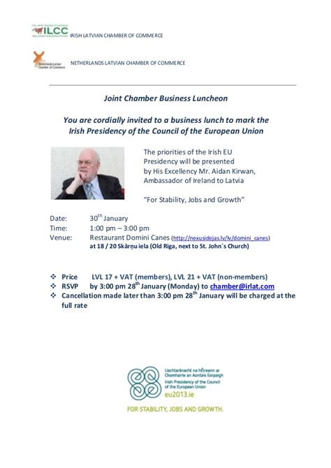 Exle Invitation Letter To His Excellency Invitation Business Lunch With Ie Ambassador