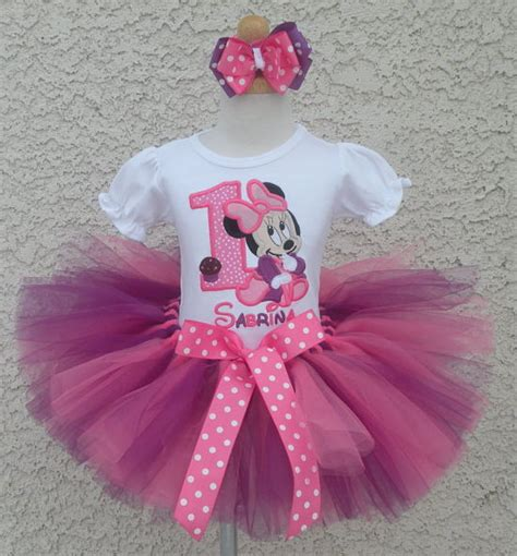 girls  baby minnie mouse pink  purple quick ship