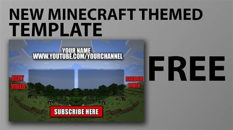 free outro template minecraft link in
