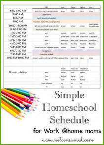 home free schedule simple homeschool schedule for working