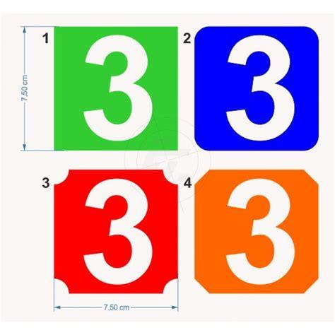 Klebebuchstaben Negativ by Farbige Und Bunte Zahlenaufkleber Quadratisch Mit Heraus