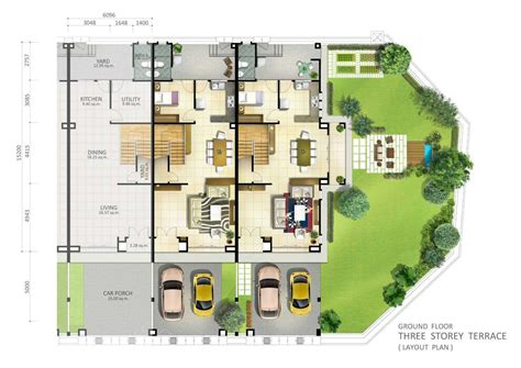 house plans in malaysia terraced house floor plan malaysia