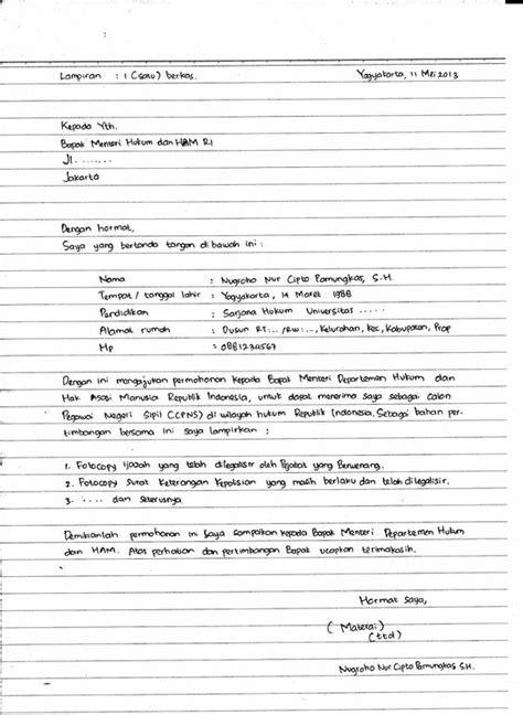 Contoh Surat Sakit Yang Ditulis Sendiri by Surat Lamaran Kerja Harus Tulis Tangan Contoh Lamaran