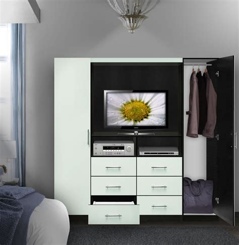 Wardrobe With Tv Space by Aventa Tv Wardrobe Wall Contempo Space