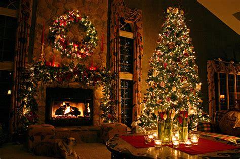 big house christmas holiday wreath lights tree image