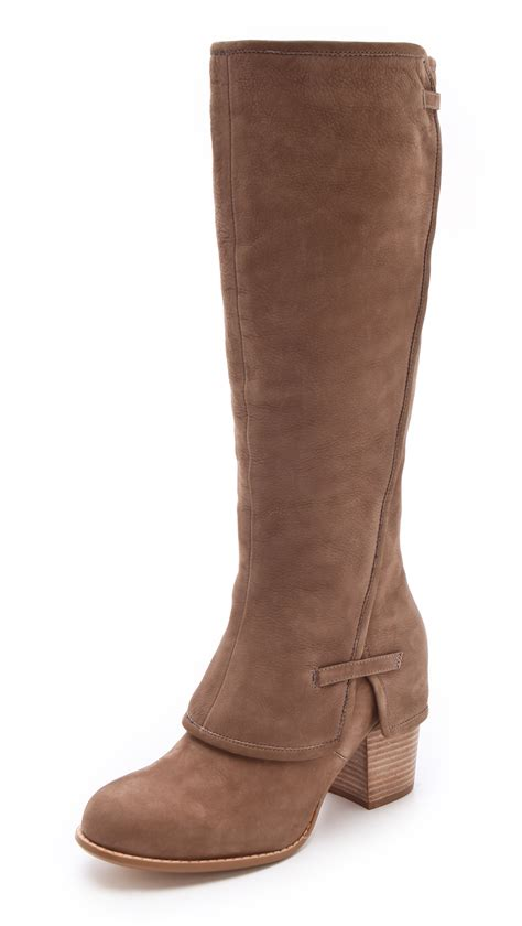 splendid boots splendid lima knee high boots in brown lyst