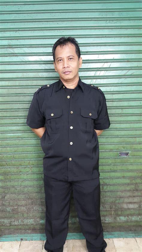 Baju Safari Biru Lengan Pendek jual baju kemeja safari hitam lengan tangan pendek 1 stel c new dup 6 baru baju
