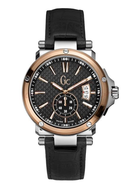 Guess Gc Leather guess collection black leather x65009g2s