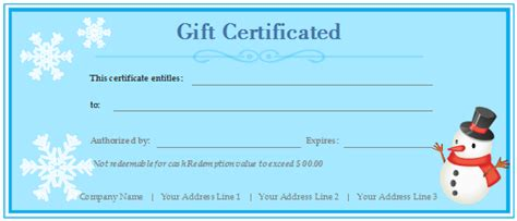 custom gift card template free gift certificate templates customizable and printable