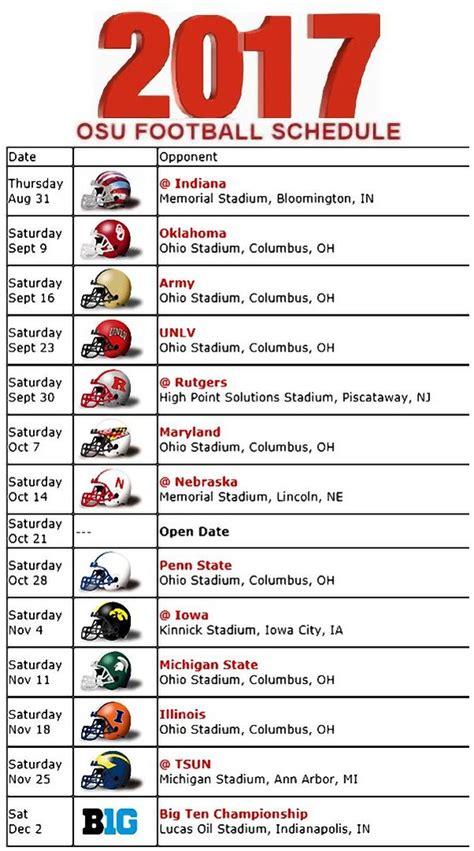 printable schedule ohio state football 2015 les 15 meilleures id 233 es de la cat 233 gorie ohio state