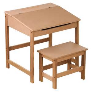 childrens kids wooden study home work writing reading table desk and stool ebay