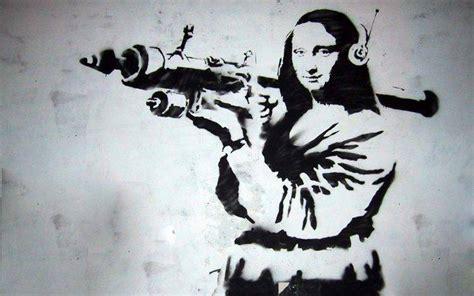 graffiti mona lisa banksy wallpapers hd desktop