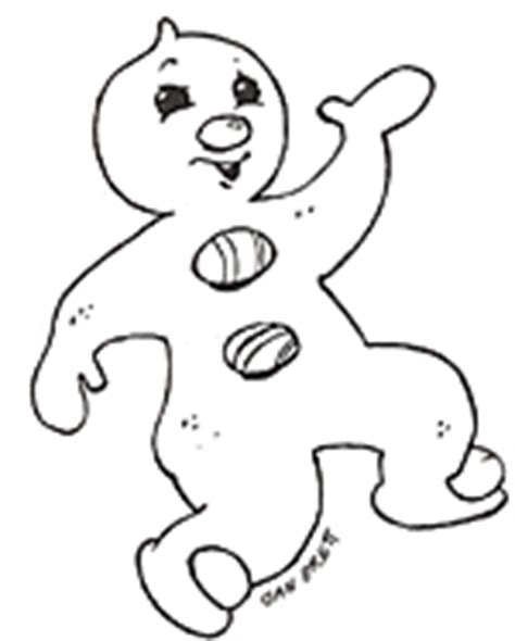 Gingerbread Friends Coloring Mural Gingerbread Baby Coloring Pages