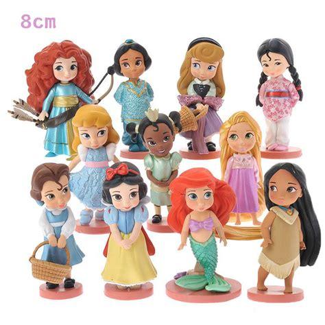 Promo Figure Moana 11pcs 11pcs moana snow white merida princess figures mulan mermaid dolls anime