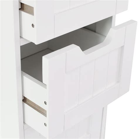 White Freestanding Bathroom Storage Priano Freestanding Bathroom Cabinet Unit White Vanity Cupboard Storage Unit Ebay