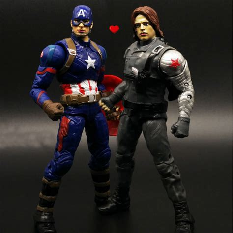 Daymart Toys Captain America Figure legends civil war captain america winter soldier figure 2pcs set collectible in