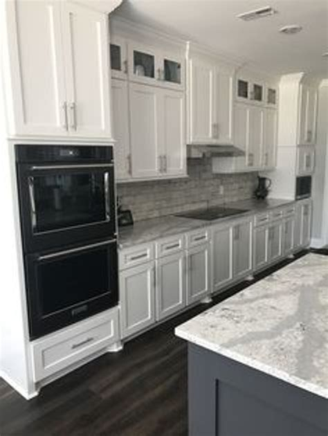 White Kitchen Cabinets Black Appliances Kitchen With Black Stainless Appliances White Cabinets Pretty Portray Kitchenaid 13