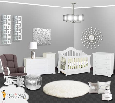 silver modern baby nursery modern other by simply