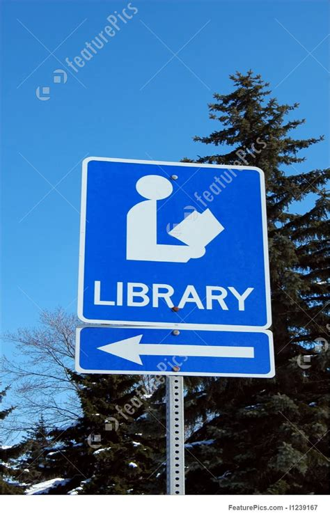 Traffic: Library Sign - Stock Picture I1239167 at FeaturePics Go Sign Clip Art
