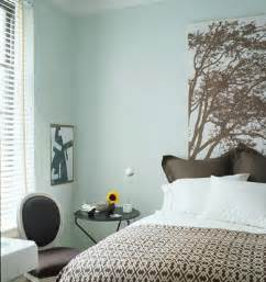 blue brown comfy bedroom design with marimekko headboard graphic brown bedding with