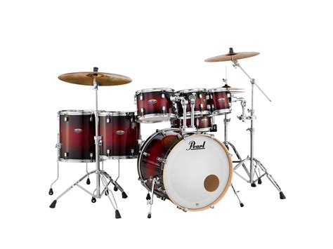 Set Drum Pearl Merah Asik decade maple pearl drums