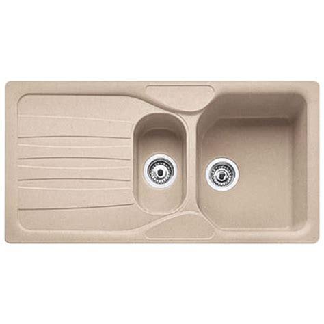 beige kitchen sinks franke calypso 1 5 bowl granite oatmeal beige kitchen sink waste cog651 franke from taps uk