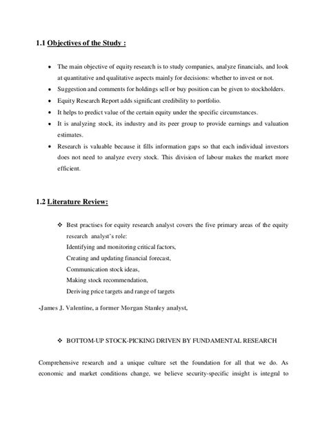statement of objectives in research objectives of the study