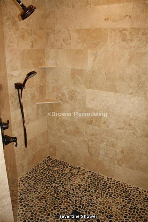 travertine river rock shower bathroom and shower remodeling contractor in phoenix az