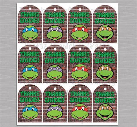 free printable ninja turtle thank you cards tmnt favor thank you tags printable from doodlebugcraftz