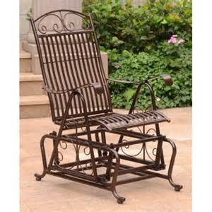 outdoor single glider chair in bronze finish walmart