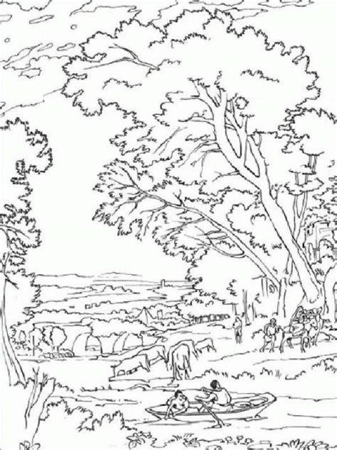 imagenes bonitas de paisajes para pintar pintando y coloreando dibujos de paisajes