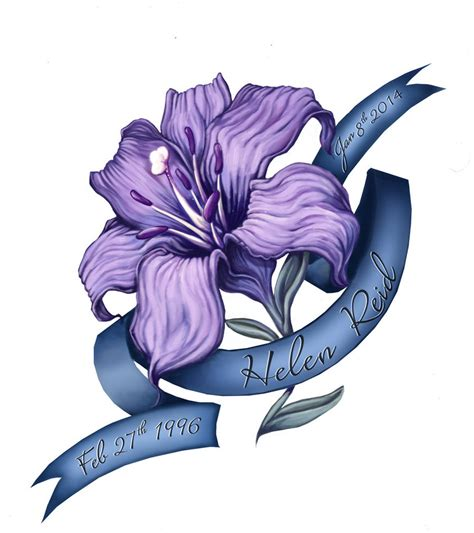 purple lily tattoo designs purple commission by wildernessspirits on