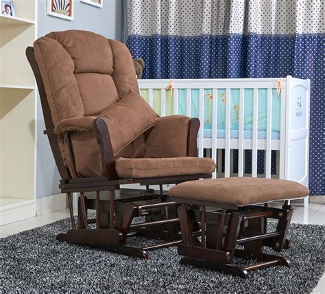 Living Room Rocking Chairs - american wood rocking chair glider rocker and ottoman set