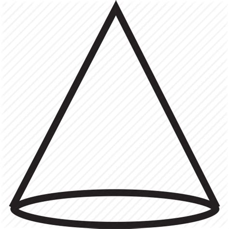 Png Outline Shapes by Cone Shape Shapes Icon Icon Search Engine
