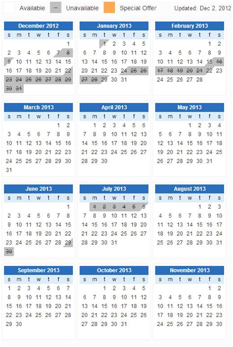 Calendar View Jquery Year View Calender Stack Overflow