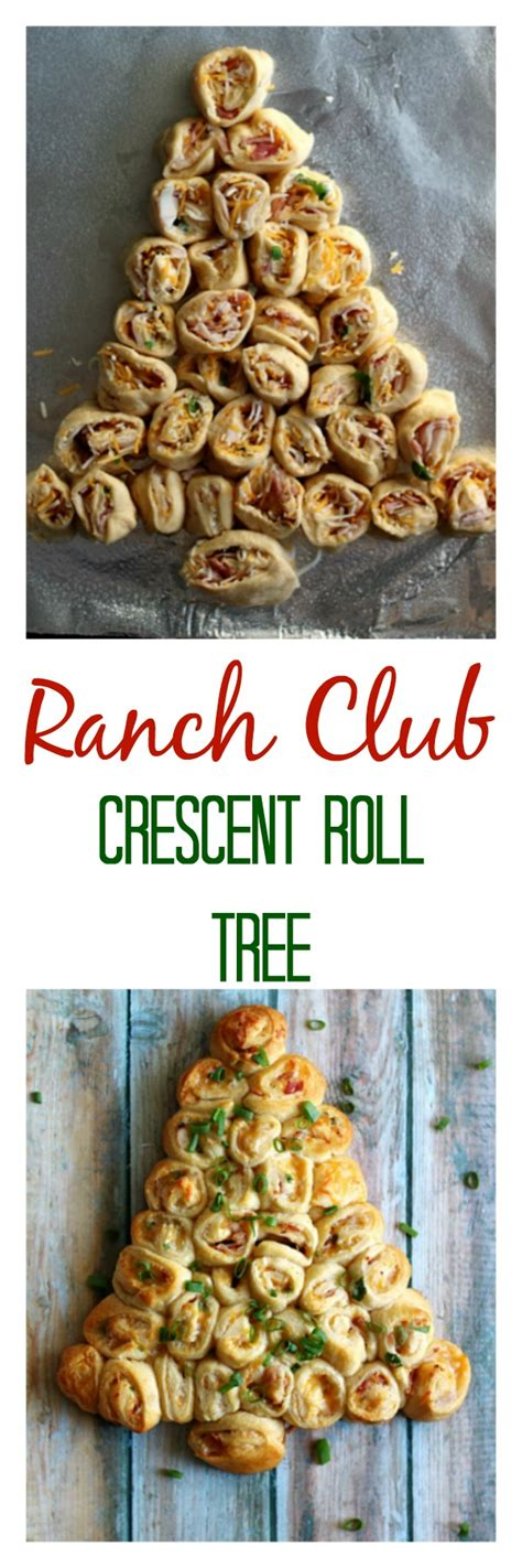 pillsbury cresent roll christmas tree appetizer ranch club crescent roll tree with the crust cut