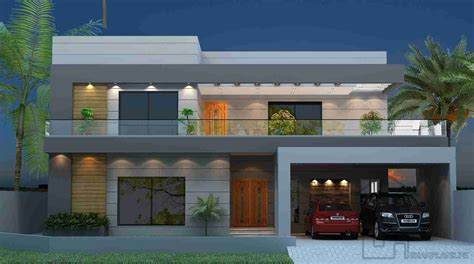 design of front of house front elevation and floor design of house 57x90 gharplans pk