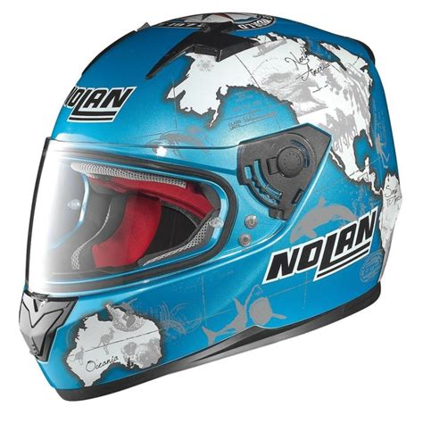 Helm Nolan N64 Melandri Aquarium White N 64 Fish Green carlos checa n64 replica helmet replica race helmets