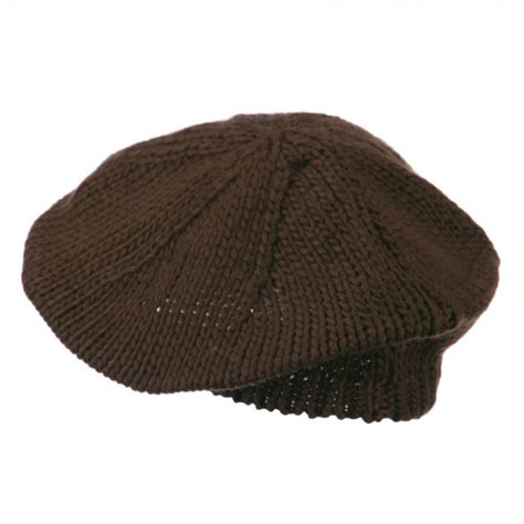 Classic Knit Brown beret brown classic acrylic knit beret e4hats