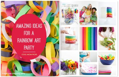 party themes original how to throw a rainbow art party ideas with a creative twist
