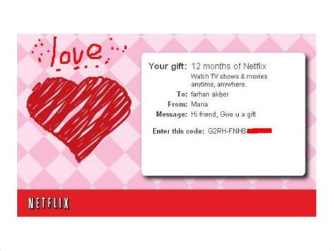 Netflix 6 Month Gift Card - sle gift certificate gift voucher template sle