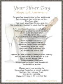 wedding anniversary program your silver day original 25th gift anniversary song