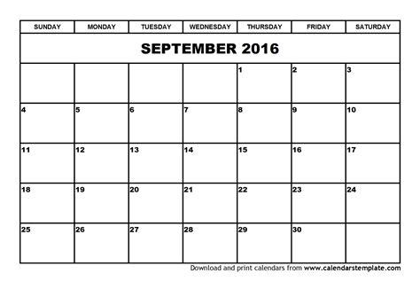 printable monthly calendar september 2016 september 2016 calendar template