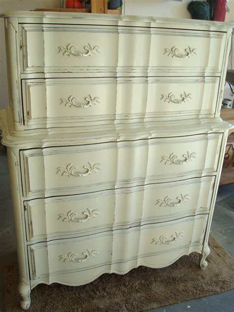 Distressed Dresser White by The Painted Antique White Distressed Dresser