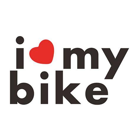 Helm I My Bike i my bike sticker for car rear windshield