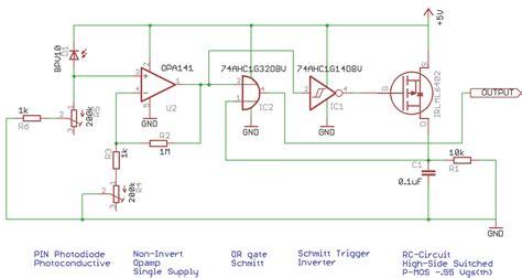 photodiode eagle library debouncing a ttl photodiode detector electronicsxchanger queryxchanger