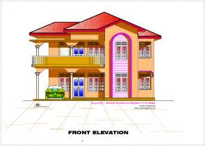kerala home design 2d 2d elevation and floor plan of 2633 sq feet kerala house design idea