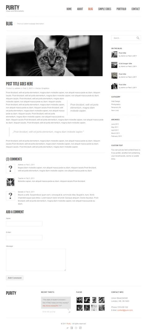 jekyll layout problem purity responsive clean minimal bold template by