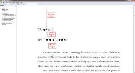 margins for dissertation new chapter top margin is large tex stack exchange